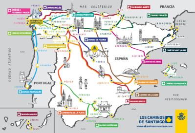 Consigue tus postales del Camino de Santiago