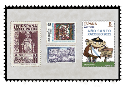 The Compostela Holy Year on stamps