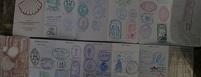 Stamps of the Camino de Santiago