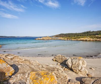 Vistas de la playa en Muxía