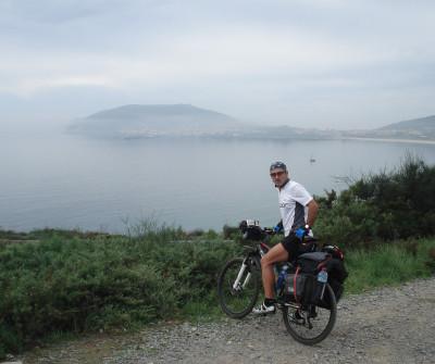 Costa de Corcubión desde el Camino a Fisterra