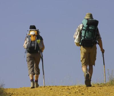 Peregrinos haciendo el Camino de Invierno