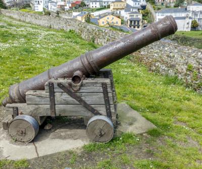 Cañón de defensa en Ribadeo