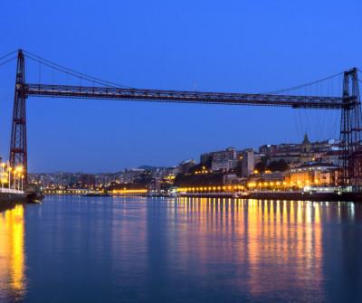 Puente de Bizkaia o puente colgante de Portugalete