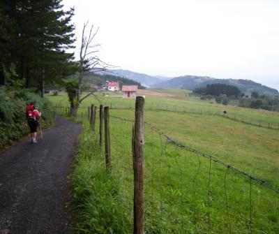 Etapa del Camino del Norte entre Deba y Markina