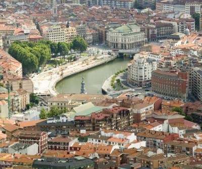 vistas de Bilbao, en el Camino del Norte