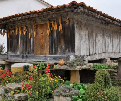 Hórreo en el Camino del Norte a su paso por Asturias