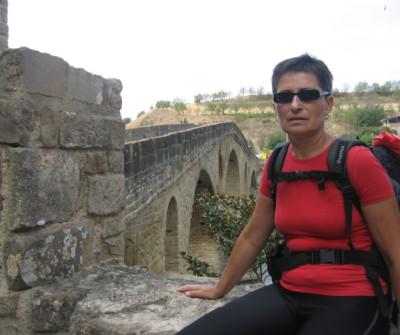 Peregrino en Puente la Reina, Camino Francés