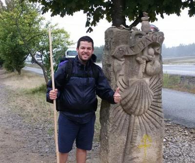 Hito del Camino de Santiago en O Pedrouzo