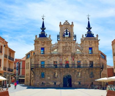 Plaza Mayor de Astorga, en el Camino Francés
