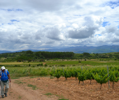 Peregrino en Villafranca del Bierzo, Camino Francés
