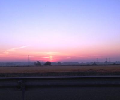 Anochecer en el Camino de Santiago Francés