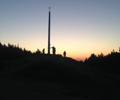 Cruz de Hierro, en el Camino Francés