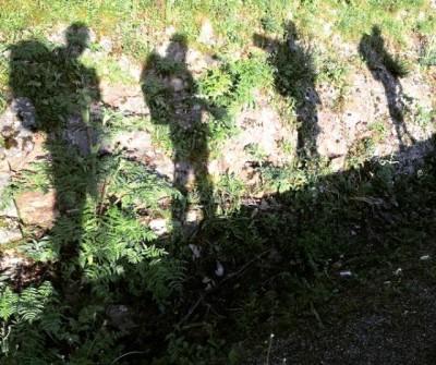 Peregrinos en la etapa O Cebreiro - Triacastela, en el Camino Francés