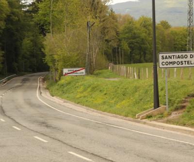 Salida de Roncesvalles hacia Santiago de Compostela