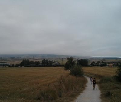 Peregrinos en la etapa Pamplona - Puente la Reina