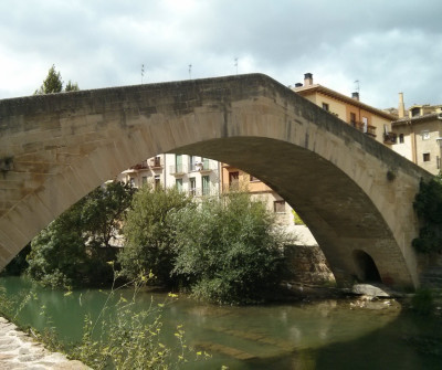 Puente de la cárcel de Estella, en el Camino Francés