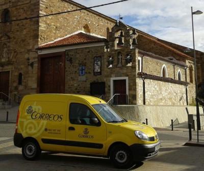 Peregrino entrando en Astorga, en el Camino Francés