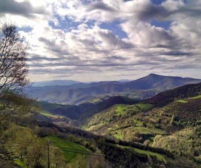 Vistas desde O Cebreiro, en el Camino Francés