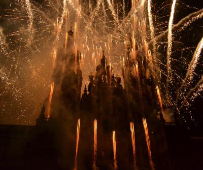 Fuegos por el Apóstol, Santiago de Compostela