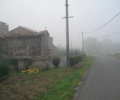 Hórreo en el Camino Inglés