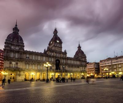 Plaza de María Pita en A Coruna