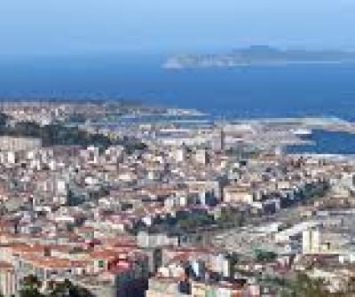 Vistas de la ciudad de Vigo desde el Camino Portugués por la Costa