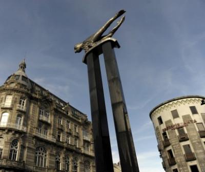 Escultura El Sireno, Camino Portugués por la Costa