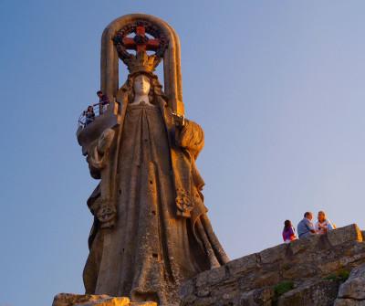 Virgen de la Roca en Baiona, Camino Portugués por la Costa