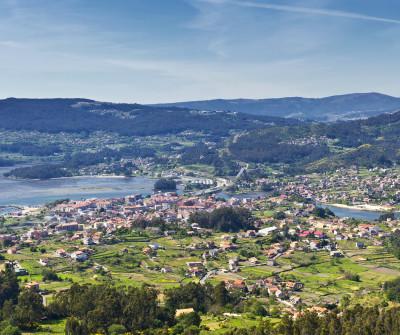 Vistas de Arcade desde el Camino Portugués