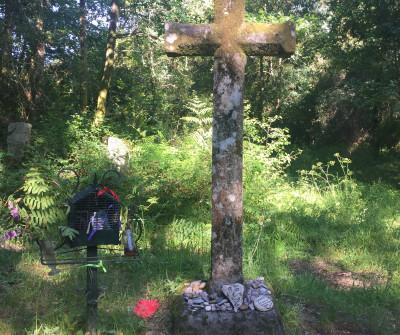 Cruz en Tui, primera etapa del Camino Portugués