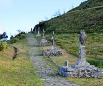 Vía Crucis en el Camino Portugués por la Costa, en A Guarda