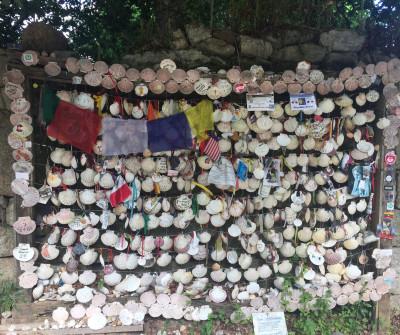 Conchas del Camino de Santiago en Redondela