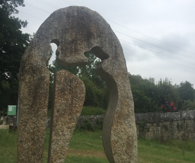 Peregrino en Tui, primera etapa del Camino Portugués