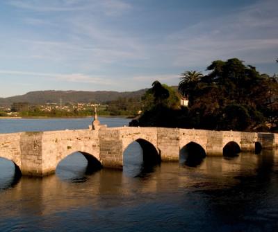 Puente romano en A Ramallosa, Camino Portugués por la Costa