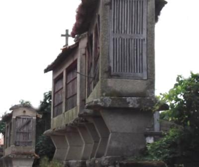 Hórreos en Vilar de Barrio, Camino Sanabrés