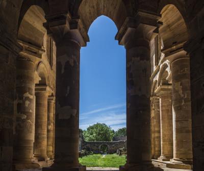 Interior del monasterio de Santa María de Moreruela