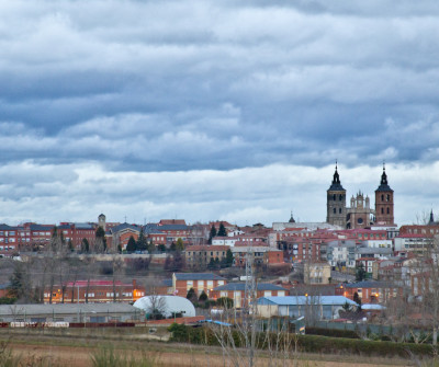 Vistas de Astorga en Vía de la Plata