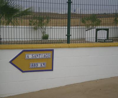 Flecha en la Vía de la Plata