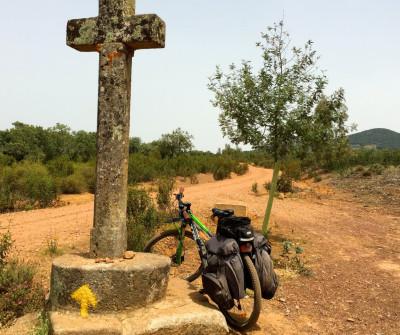 Cruz en Aljucén, Vía de la Plata