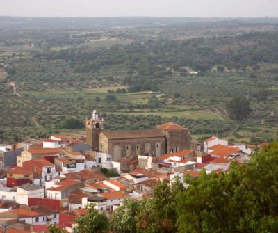 Vistas del pueblo de Alcuéscar