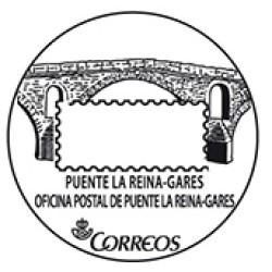Matasellos turístico Puente la Reina-Gares