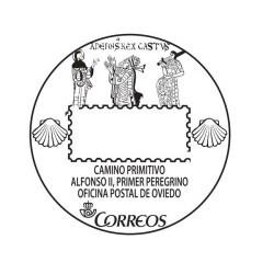 Matasellos turístico Alfonso II Oviedo